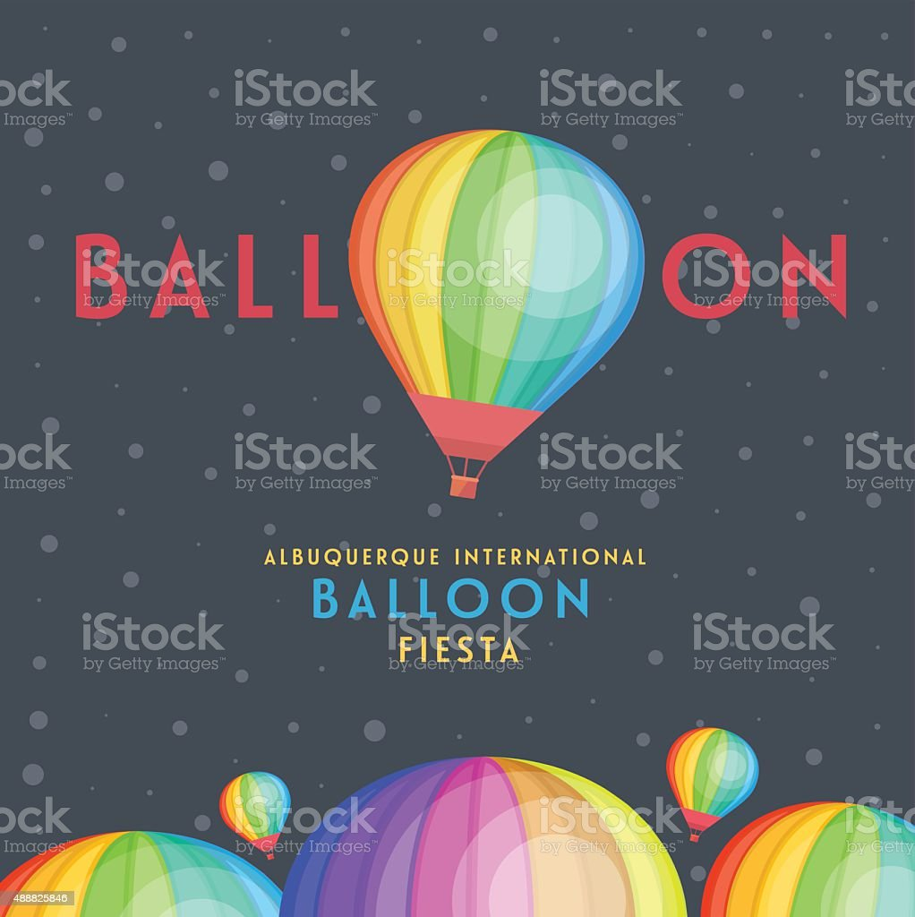 Balloon vector and albuquerque international balloon fiesta. vector art illustration