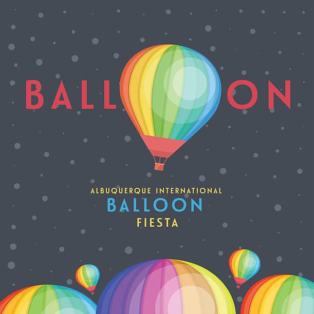 Balloon vector and albuquerque international balloon fiesta. vector art illustration