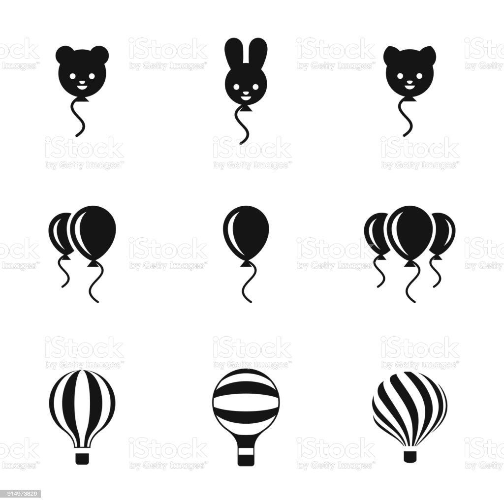 Balloon vector icons vector art illustration