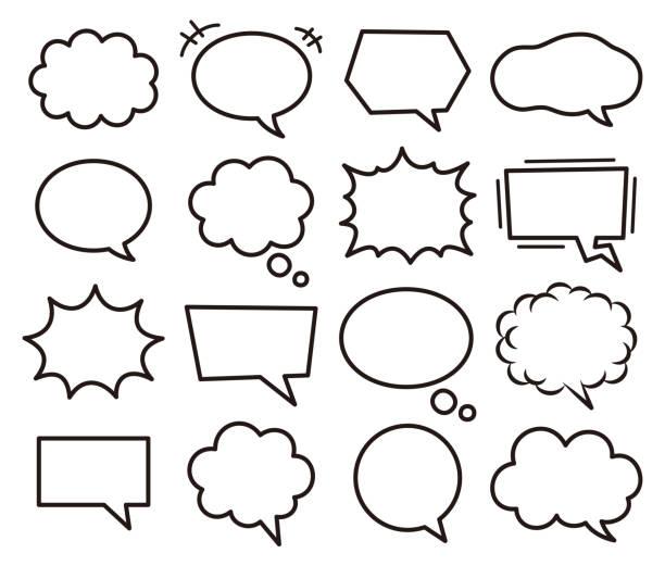 balloon Set of various speech bubbles. speech bubble stock illustrations