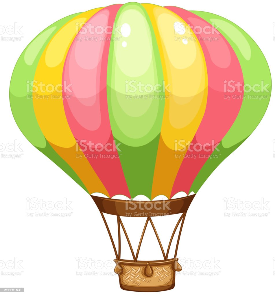 royalty free hot air balloon basket clip art  vector Hot Air Ballon Clip Art Deflated Hot Air Balloon Clip Art
