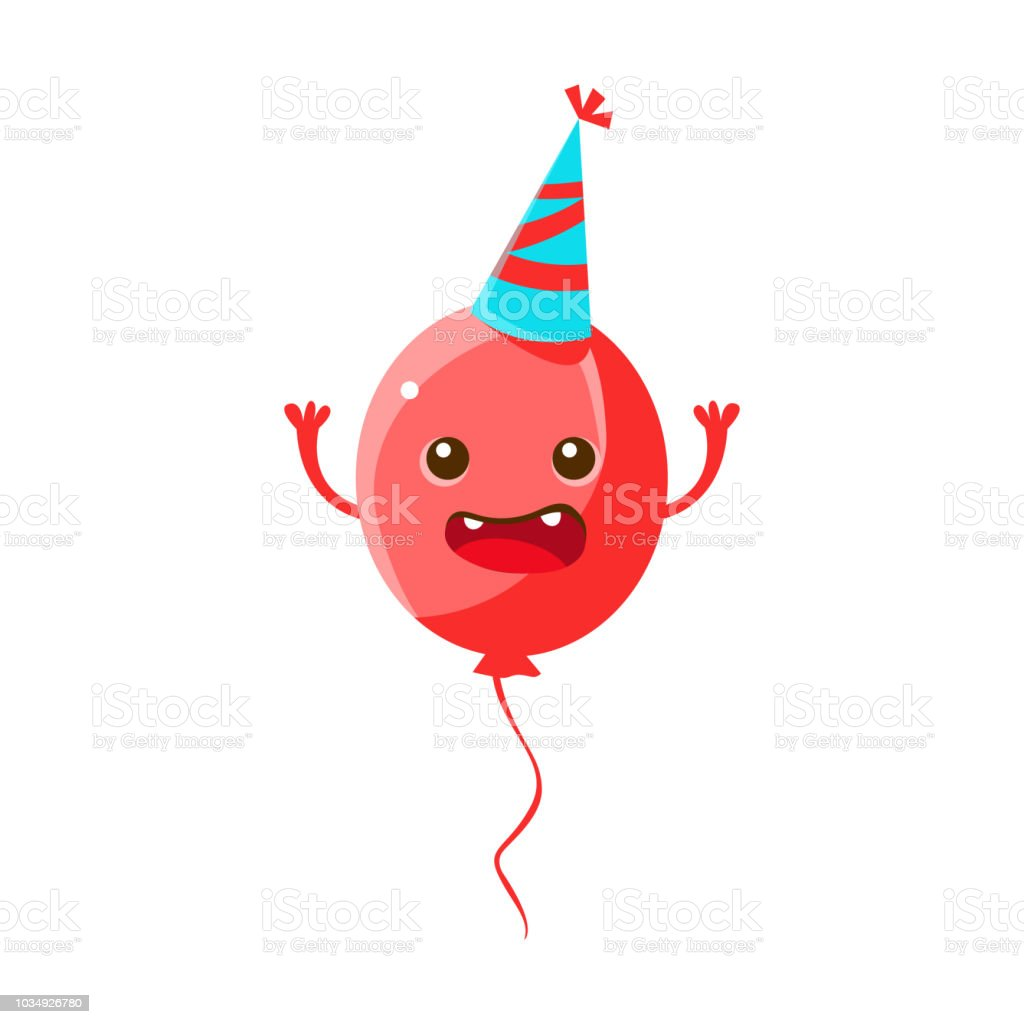 Balloon Wearing Party Hathappy Birthday And Celebration Party Symbol