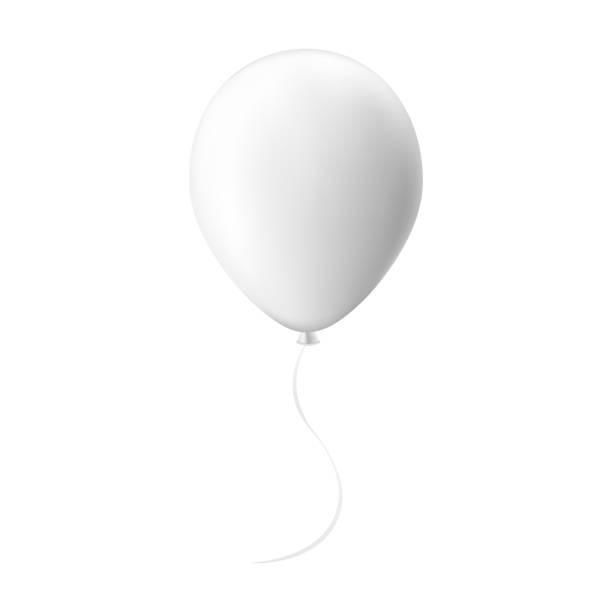 ballon mit band mock-up isoliert auf weißem hintergrund - ballon stock-grafiken, -clipart, -cartoons und -symbole