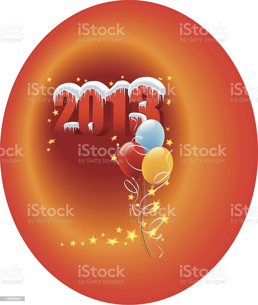 Balloons 2013 royalty-free stock vector art