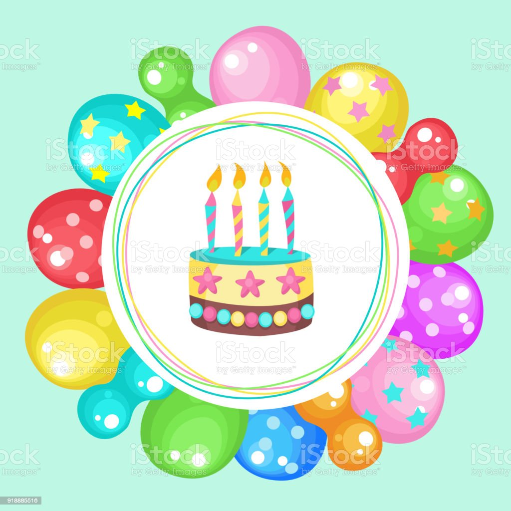 Surprising Balloons And Cakes Happy Birthday Vector Clipart Stock Funny Birthday Cards Online Bapapcheapnameinfo