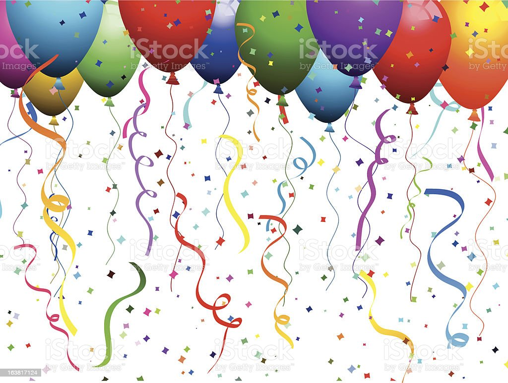 Balloons and confetti royalty-free balloons and confetti stock vector art & more images of backgrounds