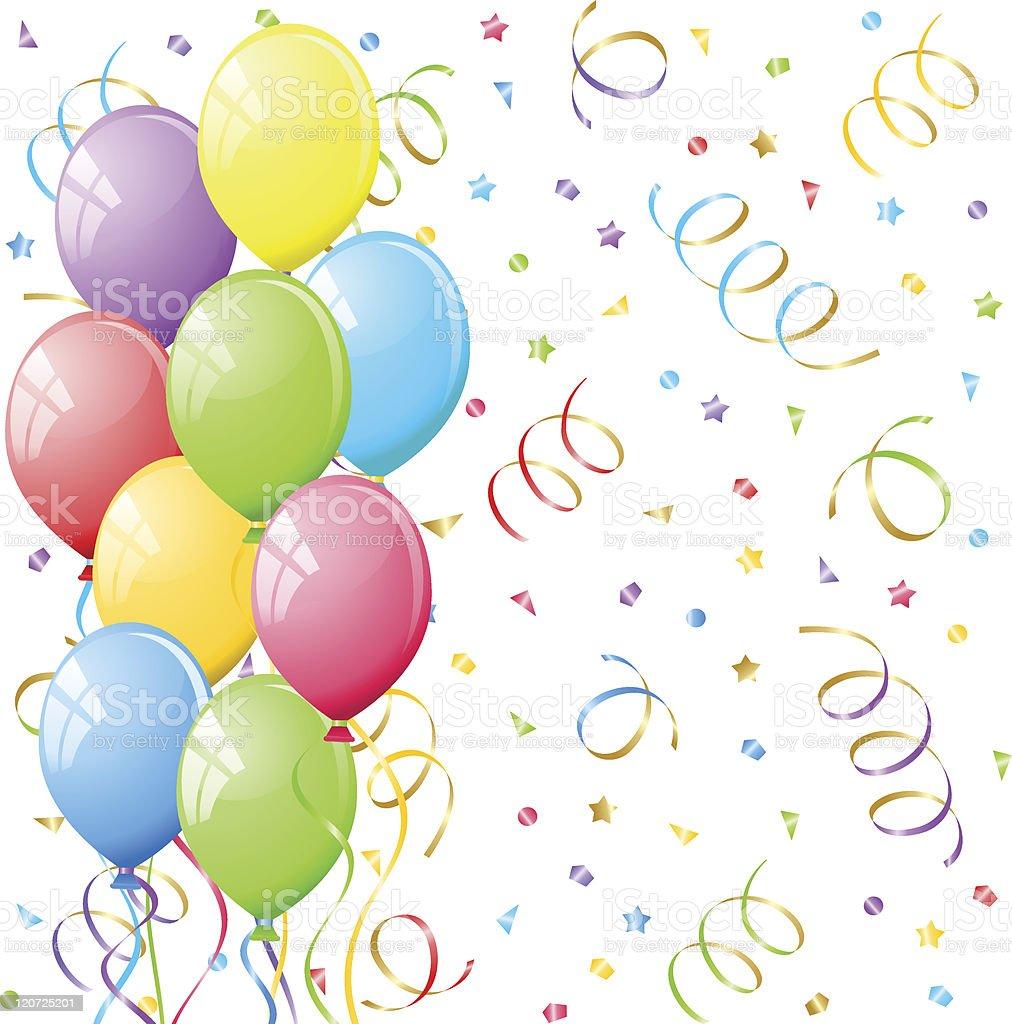 Ballons et cotillons illustration vectorielle cliparts vectoriels et plus d 39 images de - Image cotillons fete ...