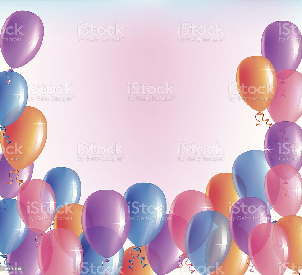 Balloons background royalty-free balloons background stock vector art & more images of backgrounds