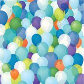 Seamless balloons background.