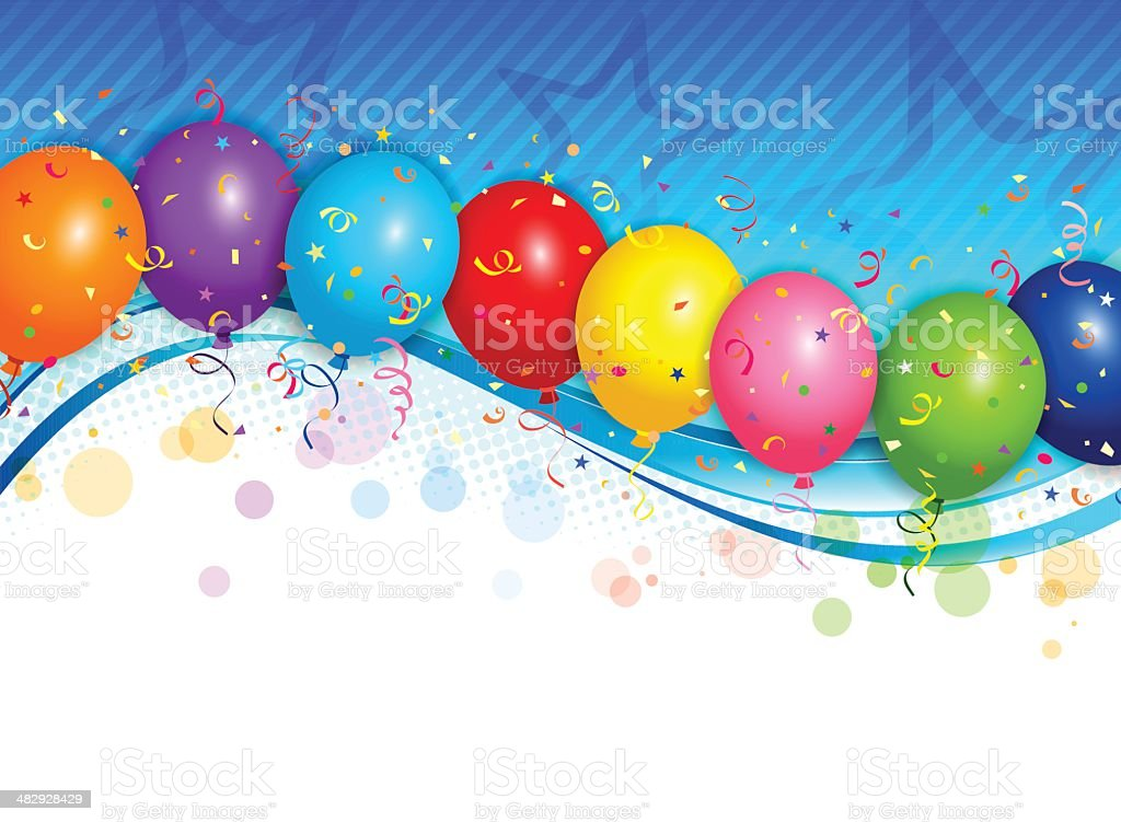 Balloons background vector art illustration