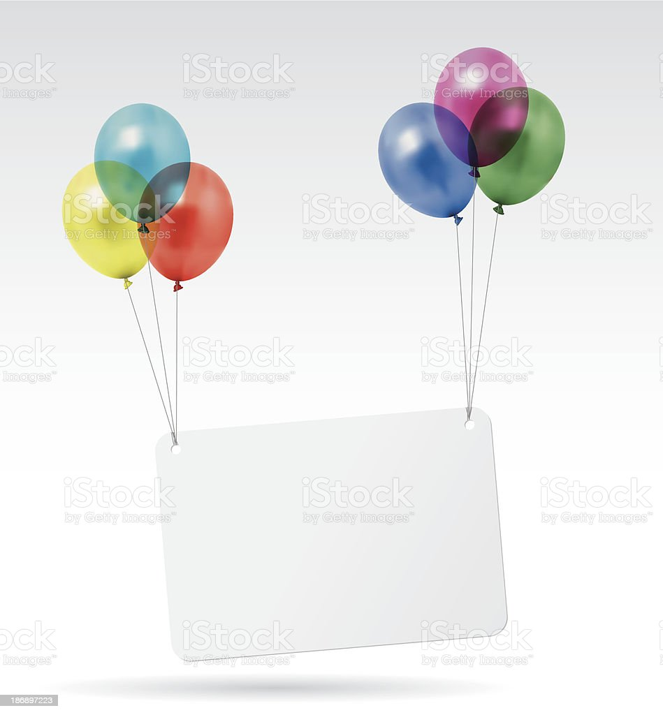 balloons card vector art illustration