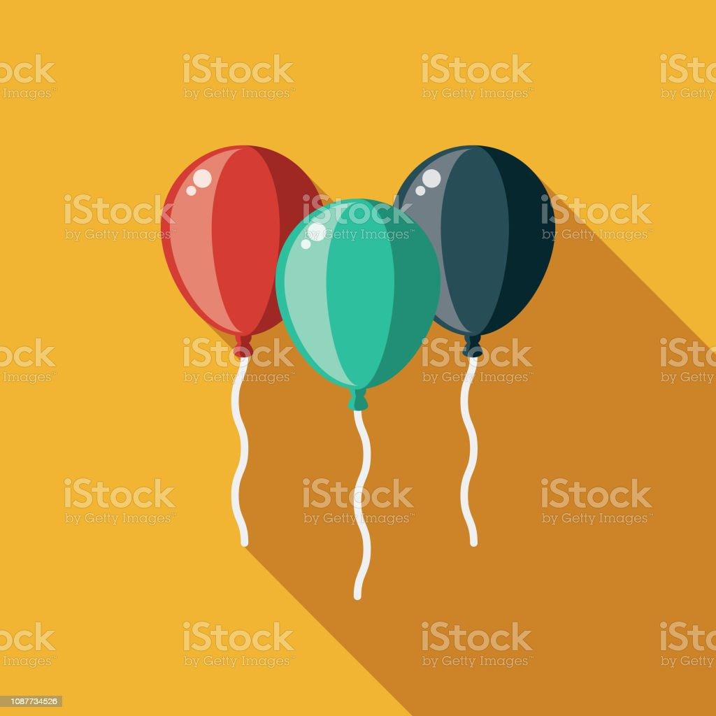 Ballons flache Designikone Prom – Vektorgrafik