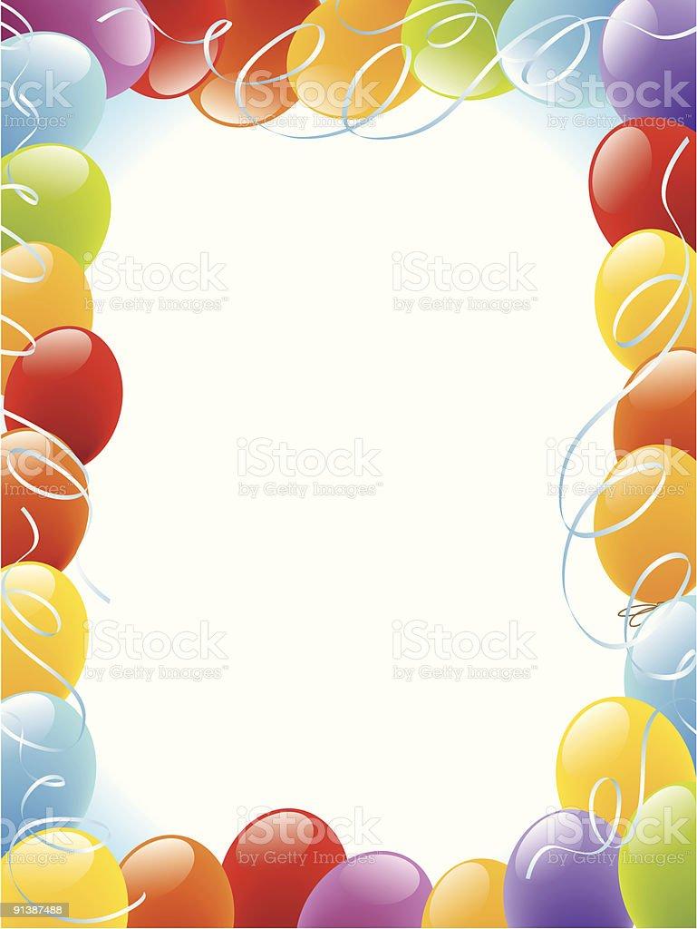 Balloons frame royalty-free stock vector art