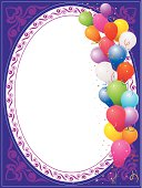Beautiful Balloon Greeting,lot of copy space.Very useful to greeting,Invitation like opening ceremony,anniversary,wedding,birthday,Christmas ,new year etc.