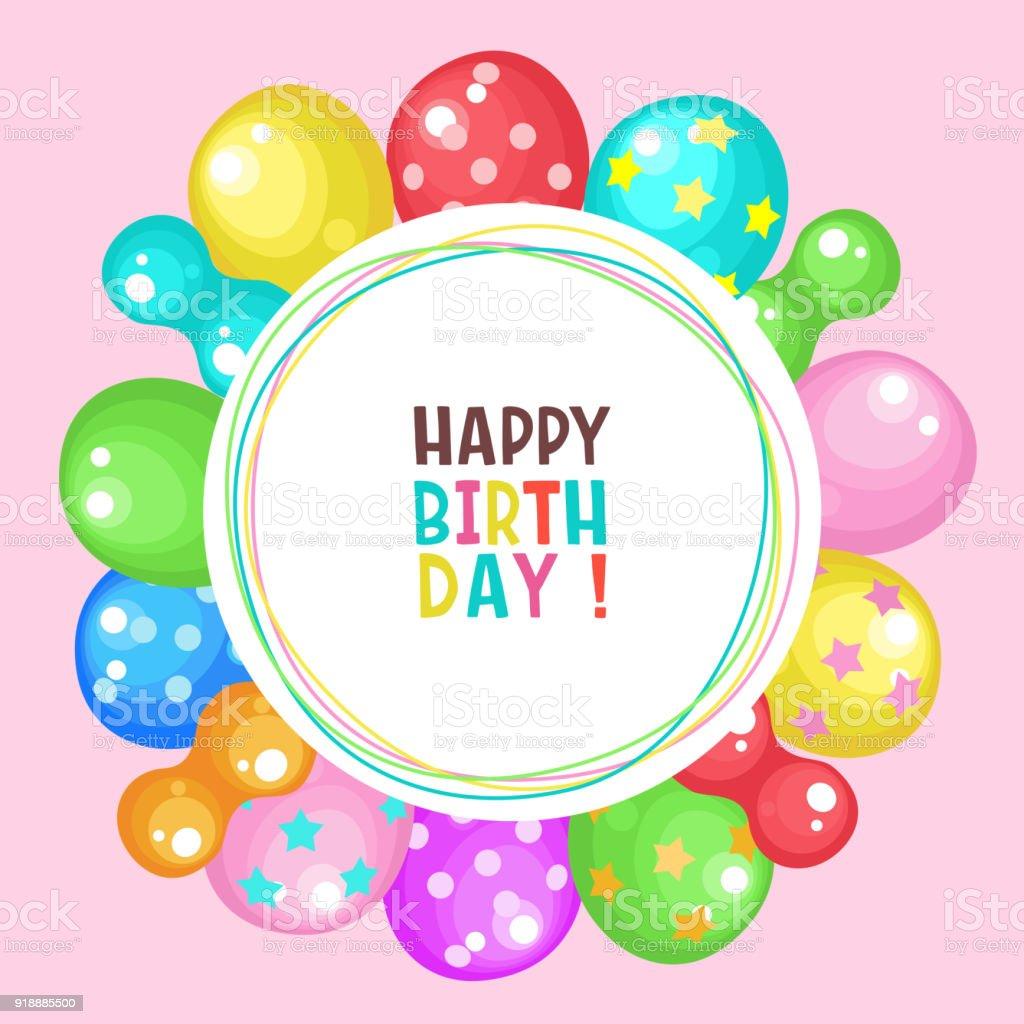 Ballonnen Proficiat Met Je Verjaardag Vector Clipart