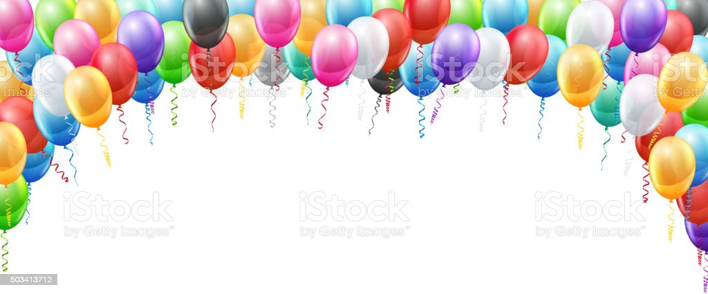 balloons header template stock vector art amp more images of