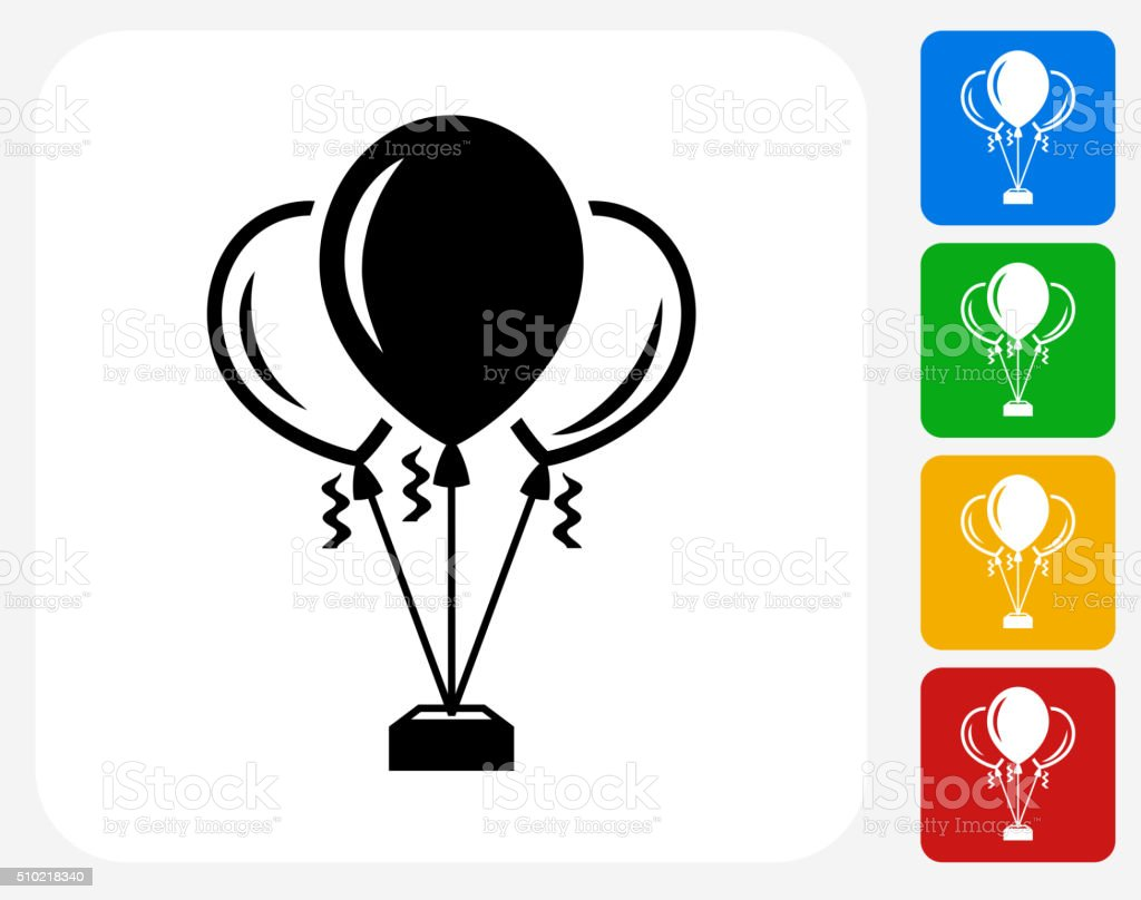 Balloons Icon Flat Graphic Design vector art illustration