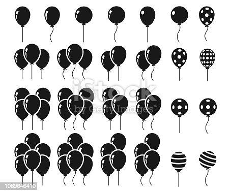 Balloons icon set , vector illustration