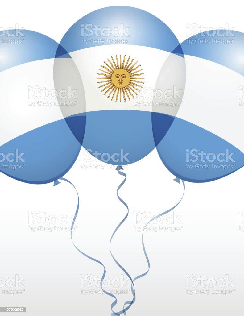 Globos en Vector como bandera nacional - ilustración de arte vectorial