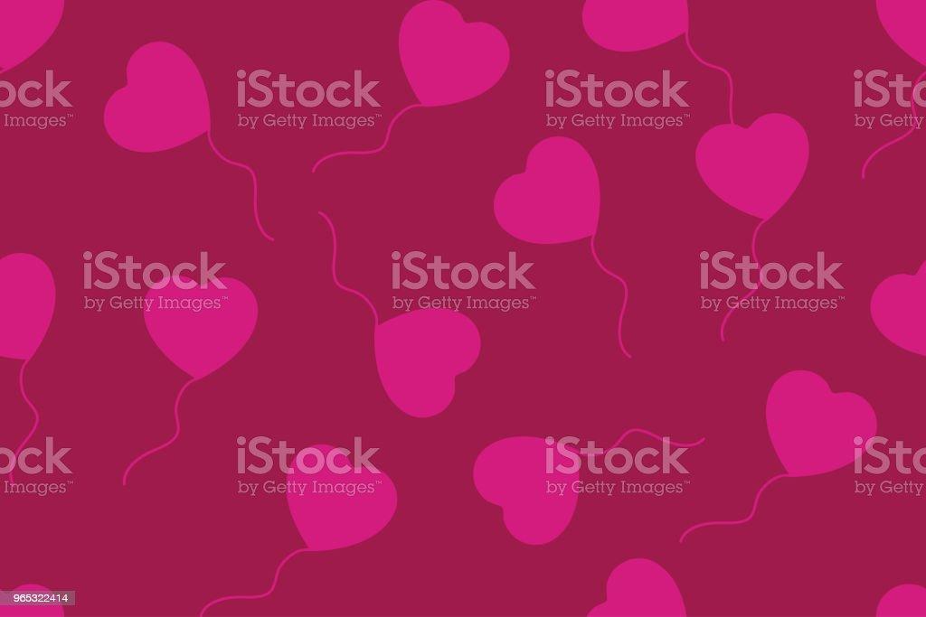 Balloons of hearts with red background, seamless pattern balloons of hearts with red background seamless pattern - stockowe grafiki wektorowe i więcej obrazów abstrakcja royalty-free