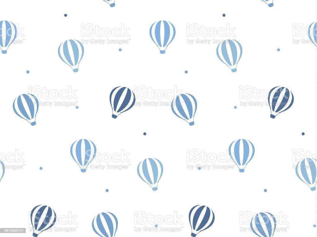 Balloons pattern vector art illustration