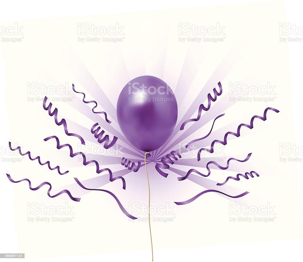 balloons purpleray royalty-free stock vector art