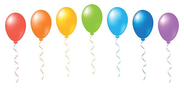 Balloons rainbow vector vector art illustration