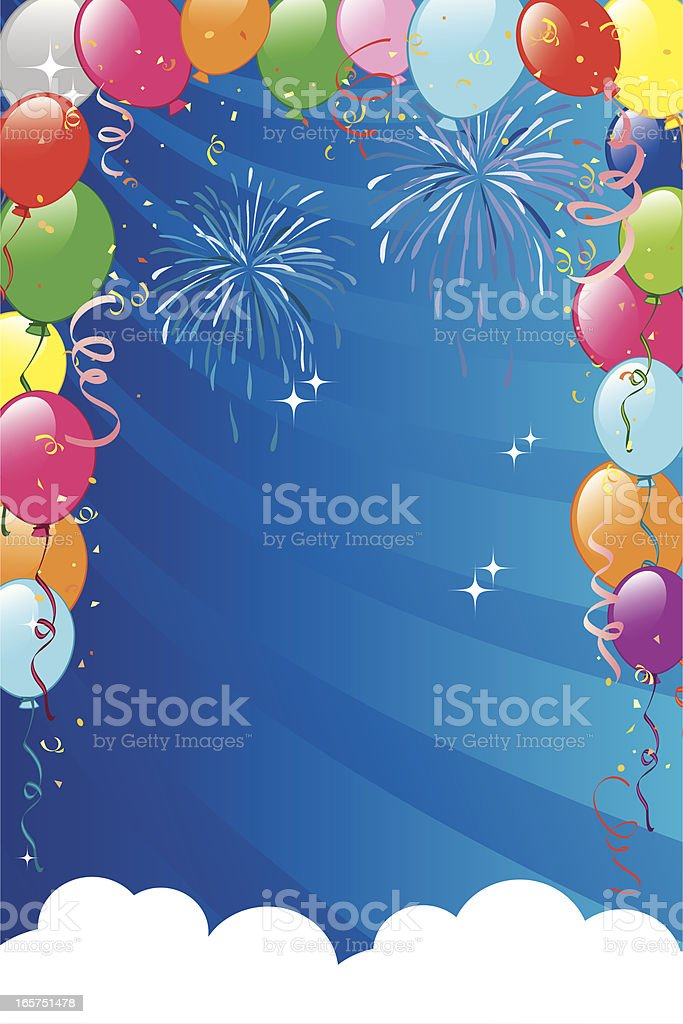 Balloons sky frame royalty-free balloons sky frame stock vector art & more images of abstract