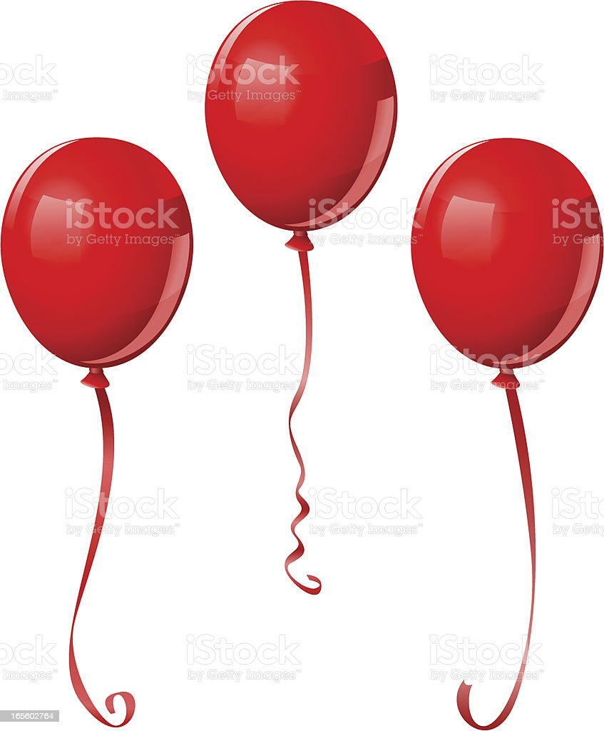 Balloons (with hi-res PNG w/ transparent background) royalty-free balloons stock vector art & more images of anniversary
