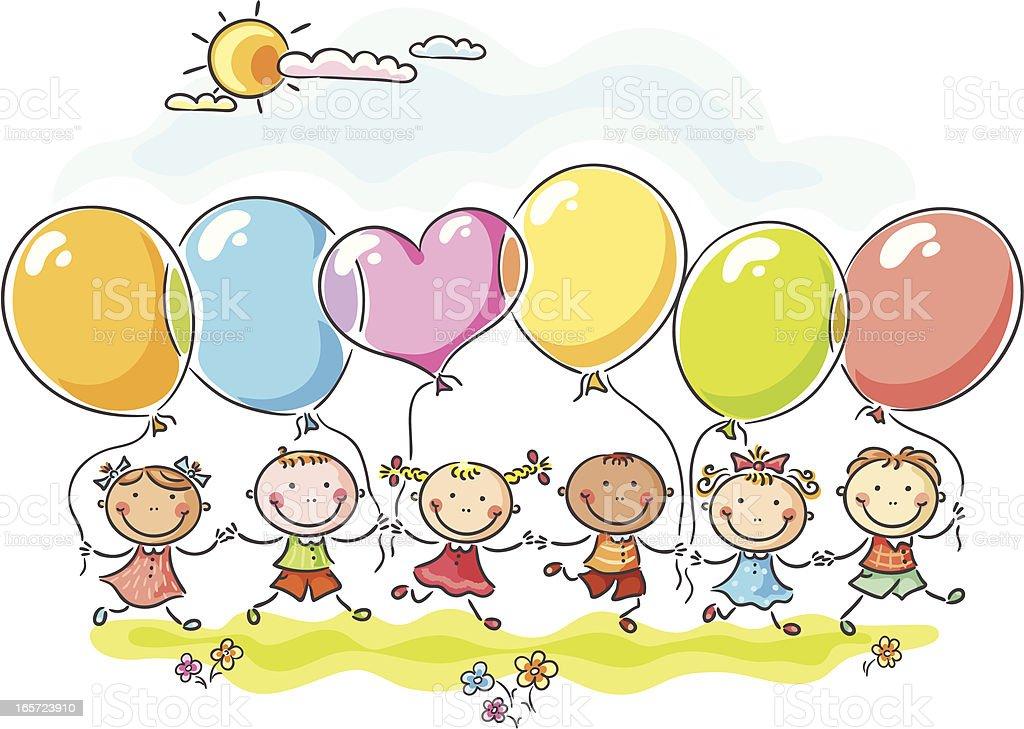 Balloons vector art illustration