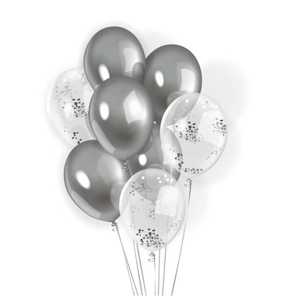 Best Silver Balloon Illustrations, Royalty-Free Vector