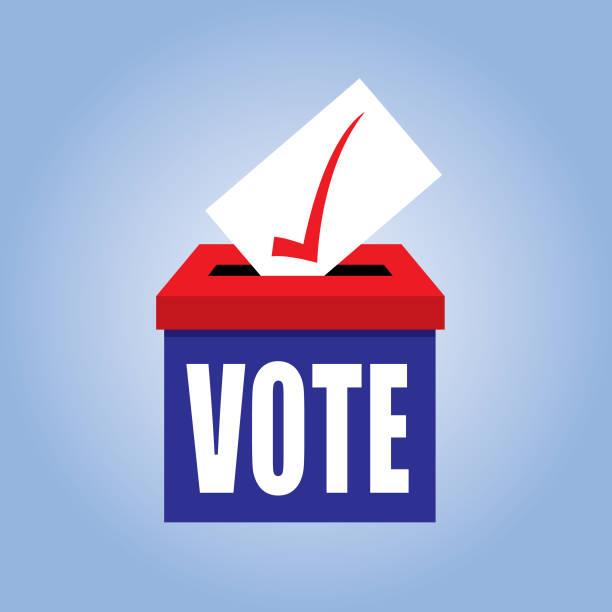 stockillustraties, clipart, cartoons en iconen met pictogram van de stembus - vote
