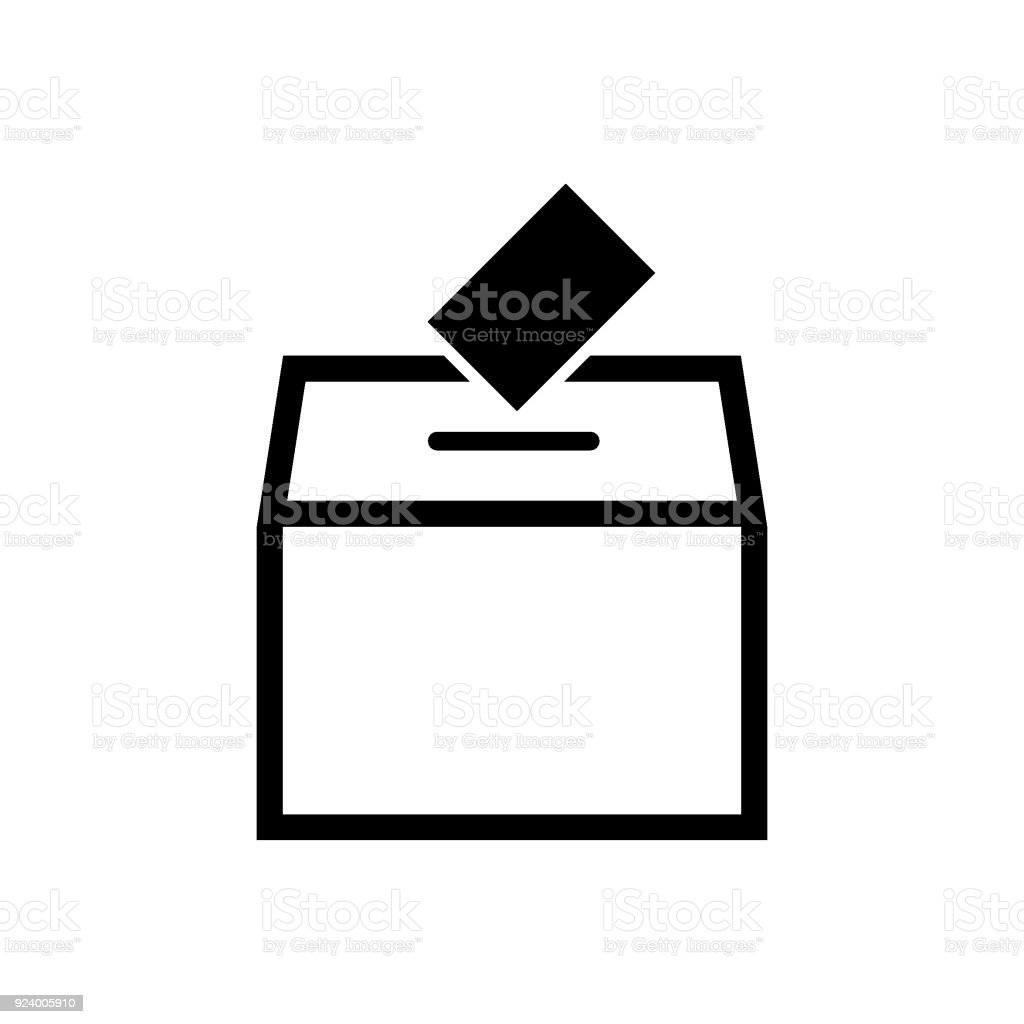 Ballot box vector icon vector art illustration