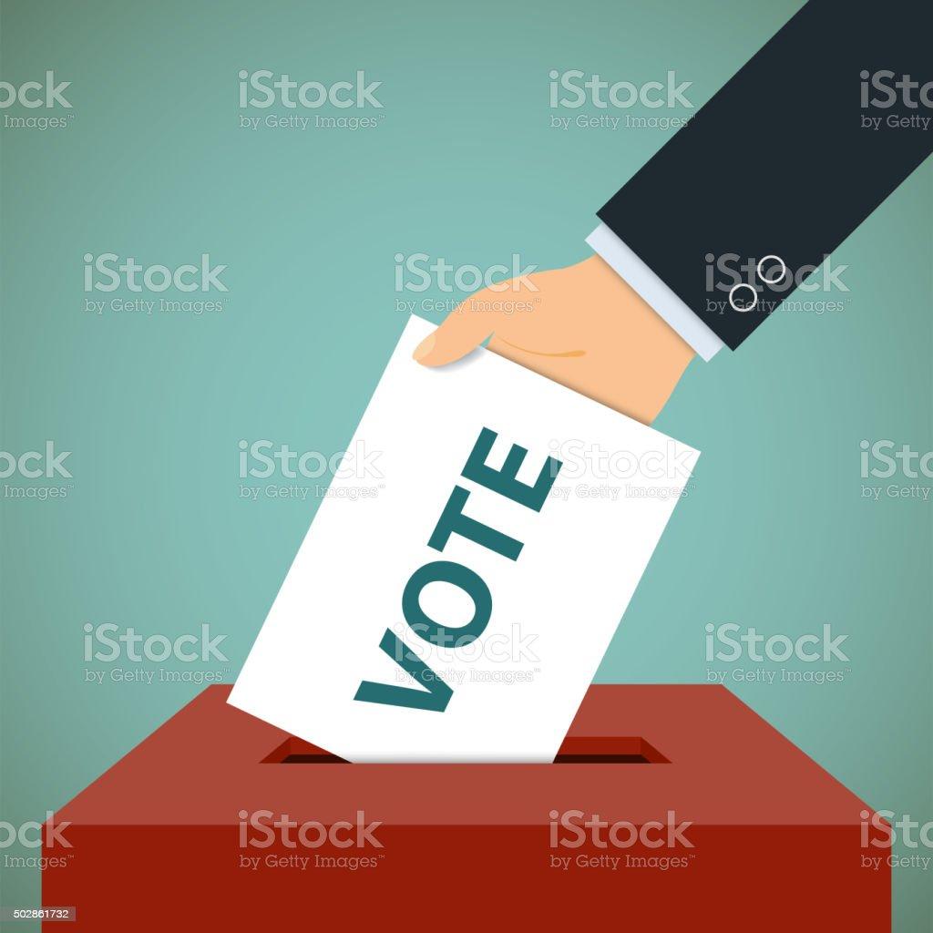 ballot paper vector art illustration