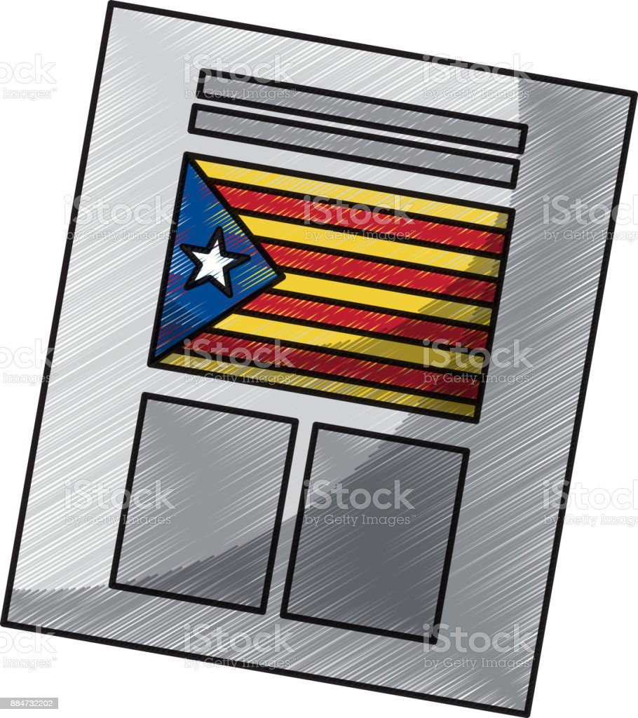 ballot used for catalonia referendum of independence - Векторная графика 2015 Republican Marches роялти-фри