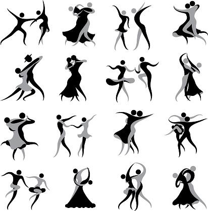 Ballroom and Latin Dancing Symbols