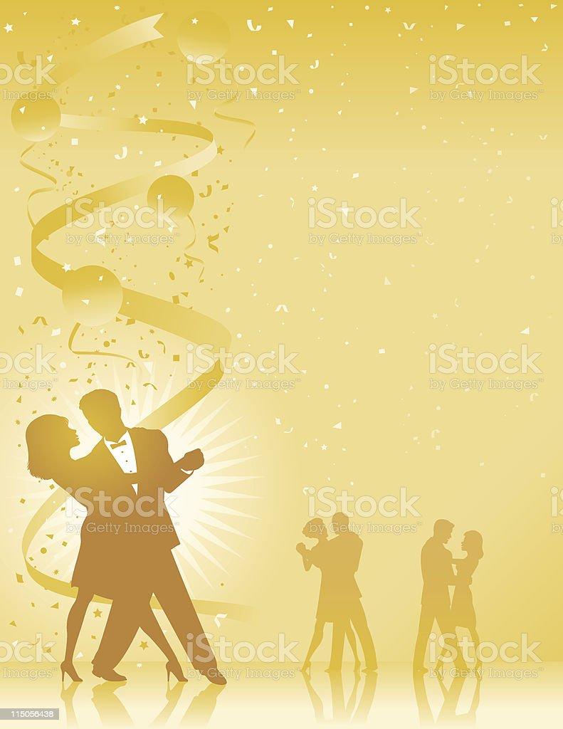 Ballroom celebration royalty-free stock vector art