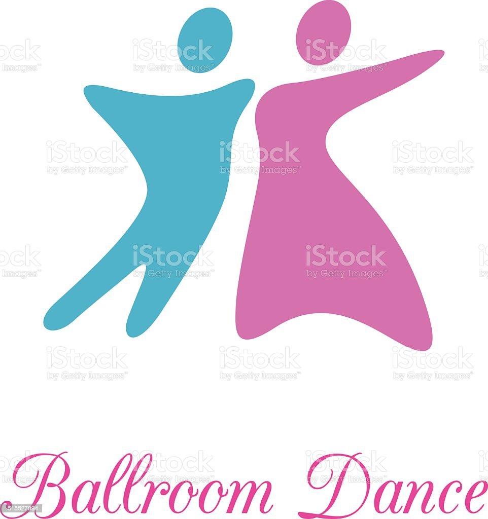 Ballroom dance vector art illustration
