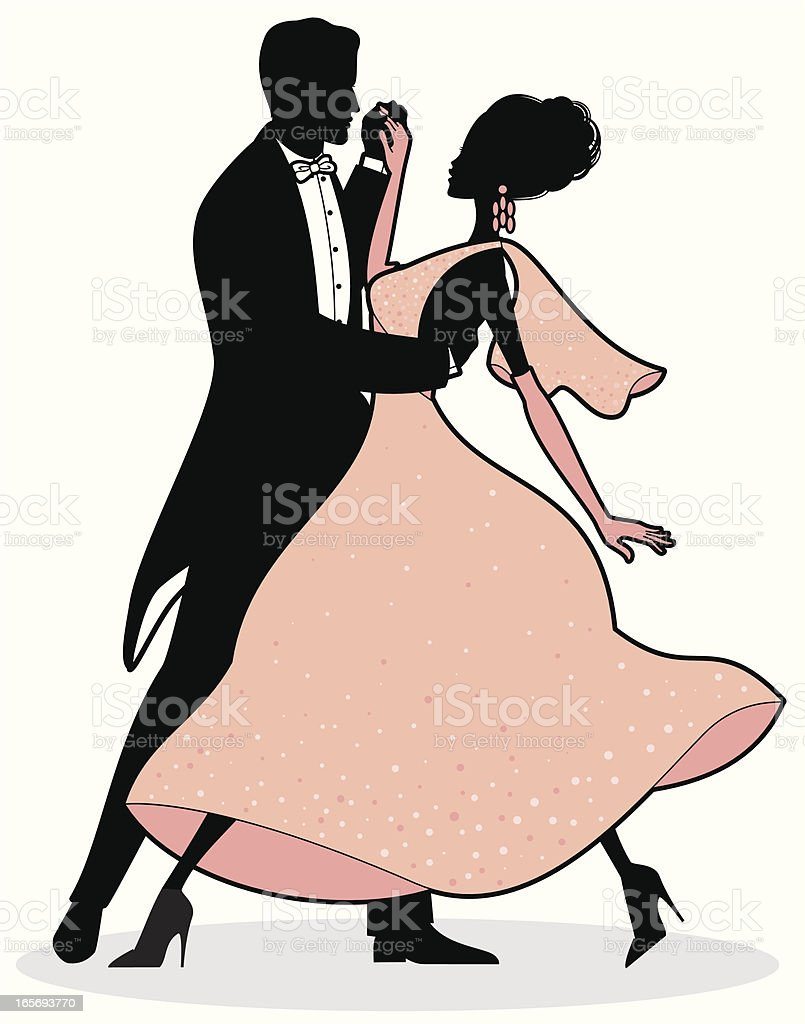 Ballroom Dancers royalty-free stock vector art