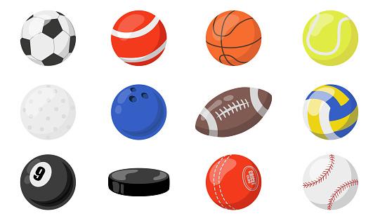 Balls for sports set
