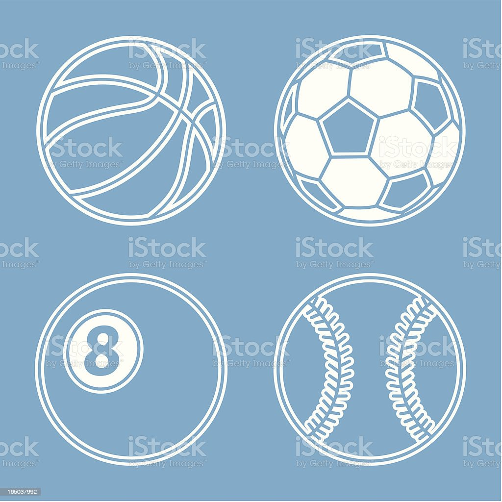Balls of Sports royalty-free stock vector art