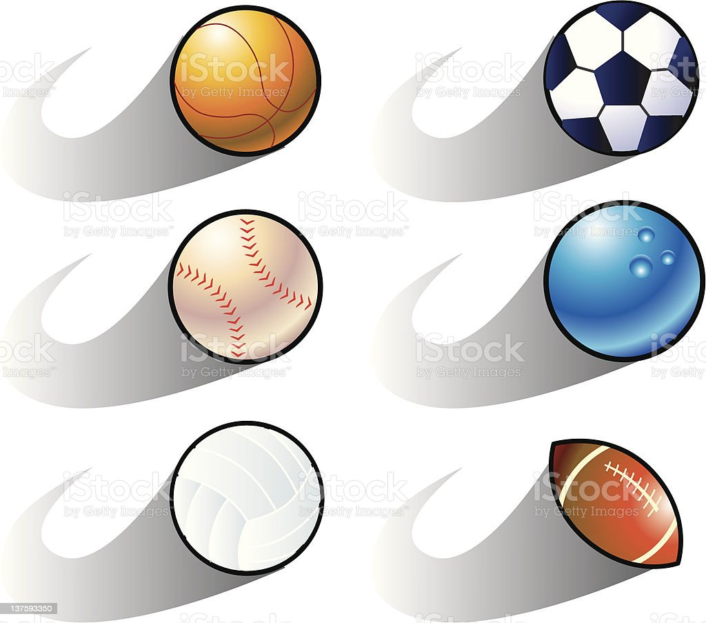 balls royalty-free stock vector art