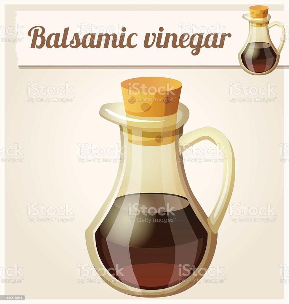 Balsamic vinegar. Detailed Vector Icon vector art illustration