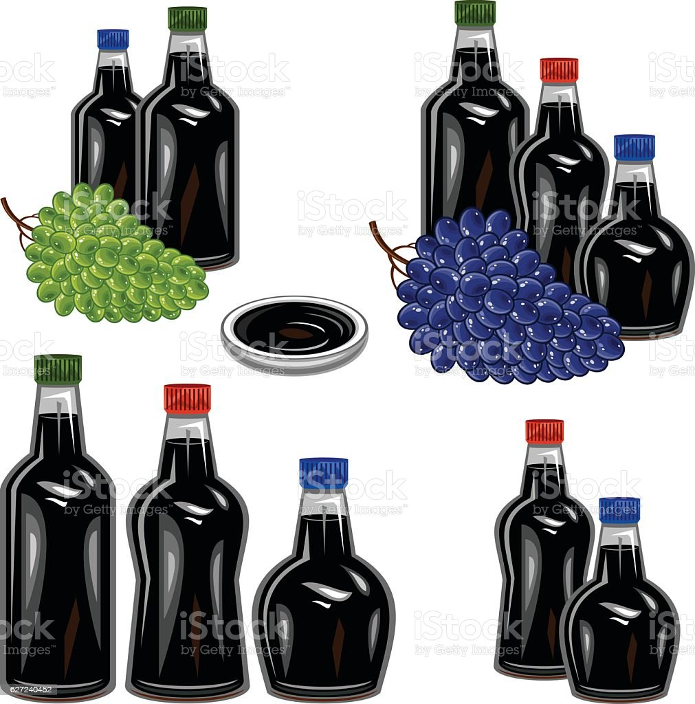 Balsamic vinegar vector art illustration