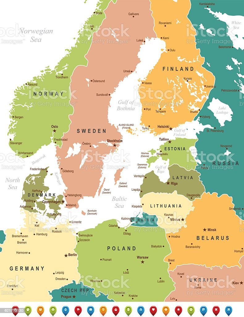 Baltic sea map stock vector art more images of backgrounds baltic sea map royalty free baltic sea map stock vector art amp more images publicscrutiny Choice Image