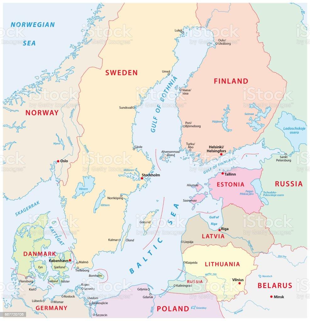 Ostseeradweg Karte.Ostseekueste Landkarte