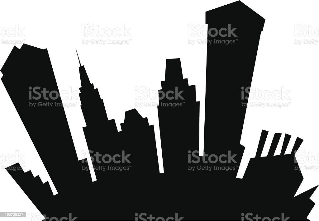Baltimore Cartoon Silhouette vector art illustration