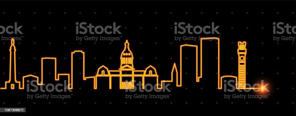 Baltimore Light Streak Skyline vector art illustration