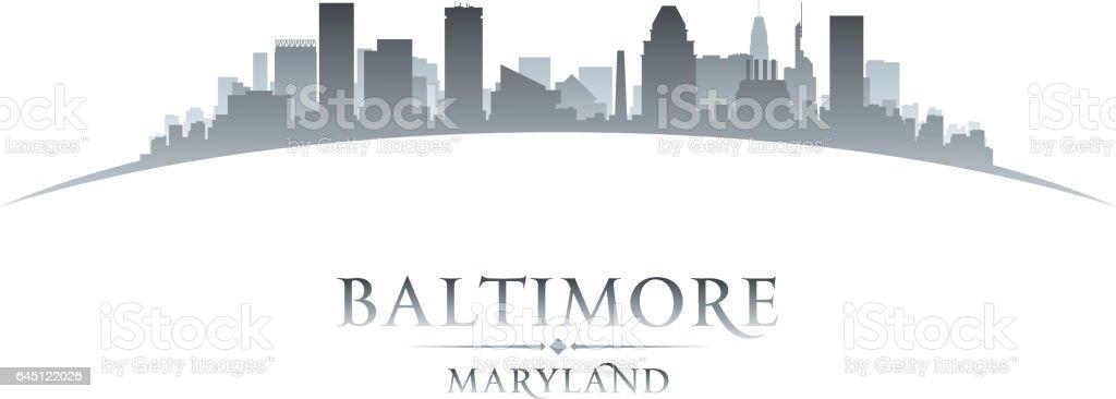 Baltimore Maryland city skyline silhouette vector art illustration
