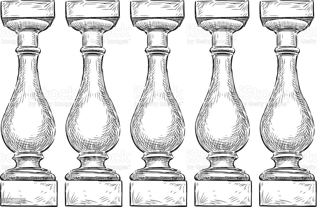 Balustrade vector art illustration
